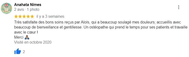 avis osteopathe nice